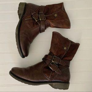 BareTraps Sabella Brown Buckle Boot